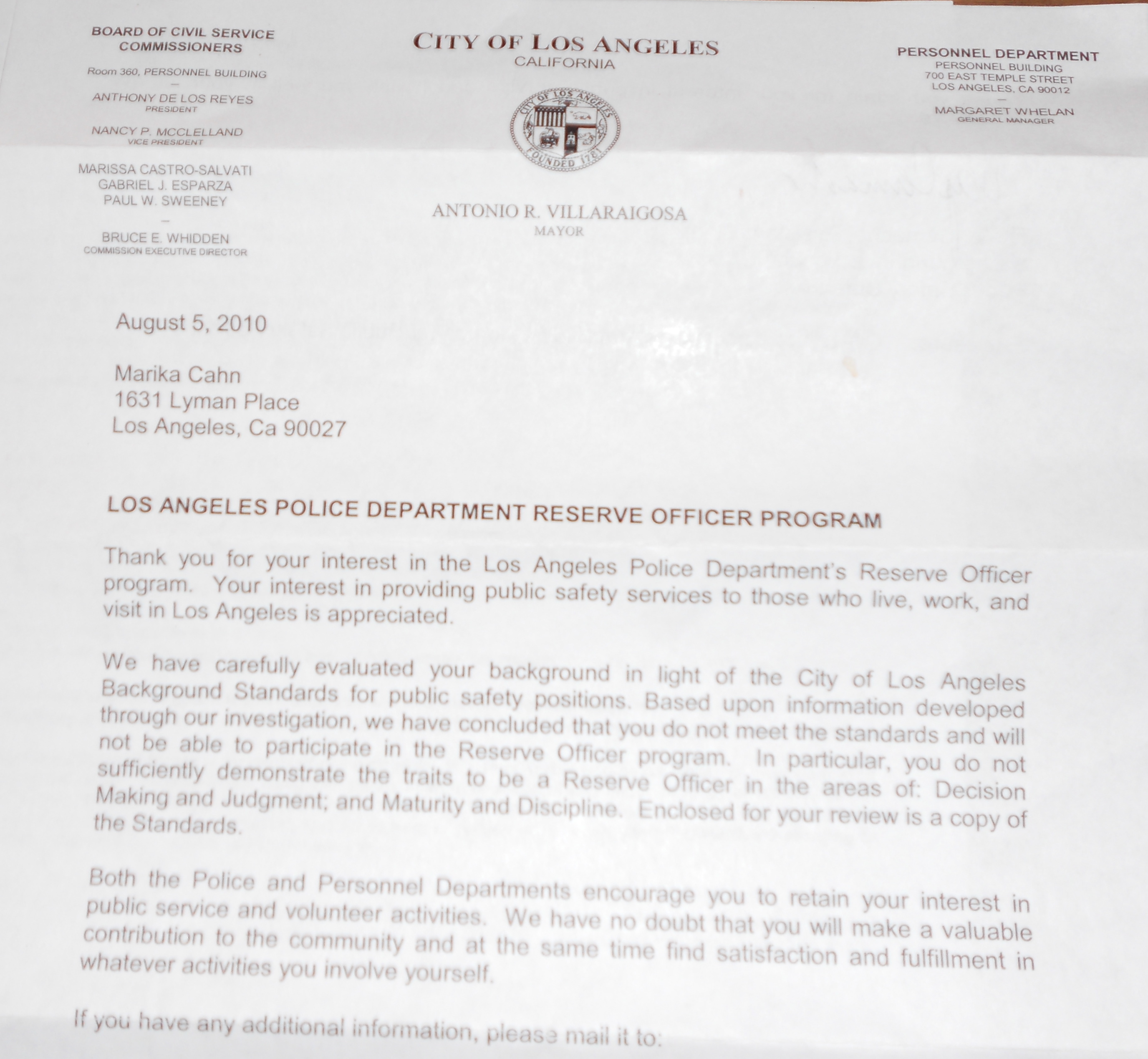 Los Angeles Police Department (LAPD) – Personal Qualifications Essay (PQE)