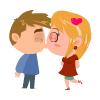 Ginger-couple-kissing