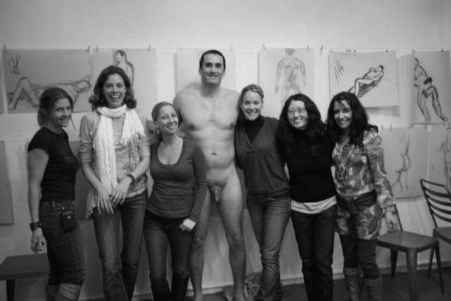 ... our nude model Chris, Andrea, Judy & Karen. Number 5 - Take an Art Class